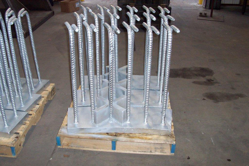 Galvanized Embed Steel with Rebar
