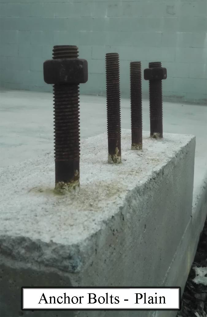 Installed Plain Anchor Bolts