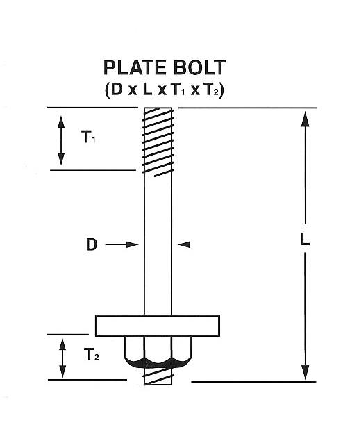 Plate Bolt Drawing